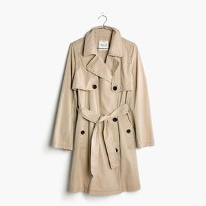 Madewell Natural Abroad Trench Coat L